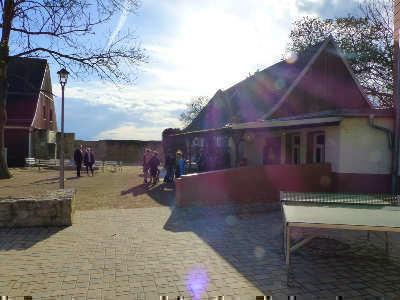 Innenhof Ferienlager Thüringen