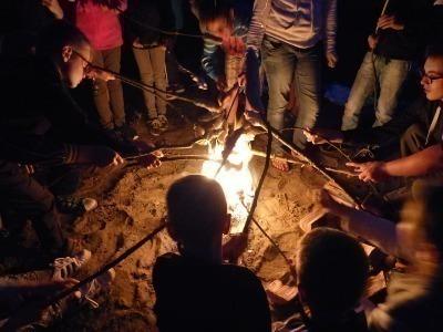 Lagerfeuer im Camp Peenemünde